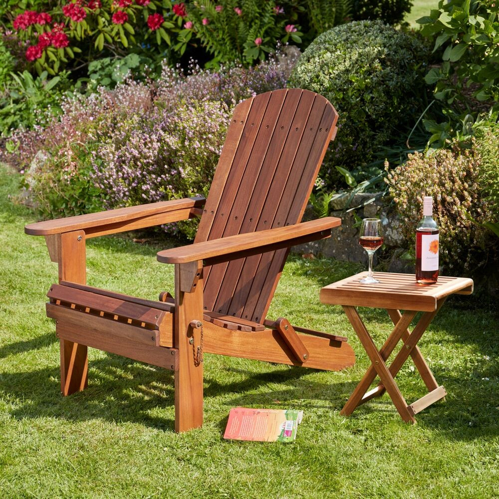 Best ideas about Wooden Patio Furniture . Save or Pin Adirondack Garden Chair Table Footrest Seats Outdoor Patio Now.