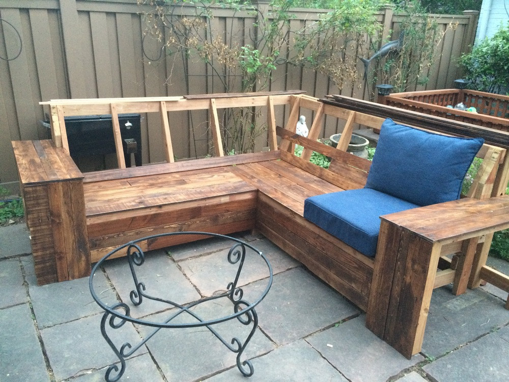 Best ideas about Wooden Patio Furniture . Save or Pin Wooden Outdoor Sofa Top 44 Ace Outdoor Reclaimed Wooden Now.