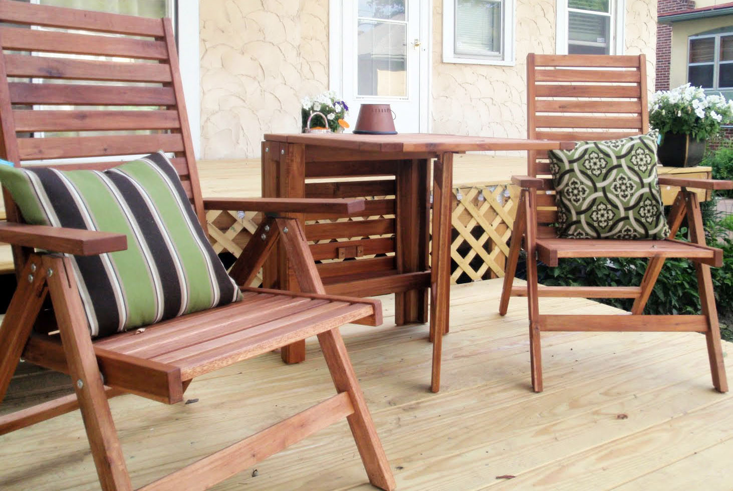 Best ideas about Wooden Patio Furniture . Save or Pin Hammers and High Heels Patio Furniture Refresh & Outdoor Now.