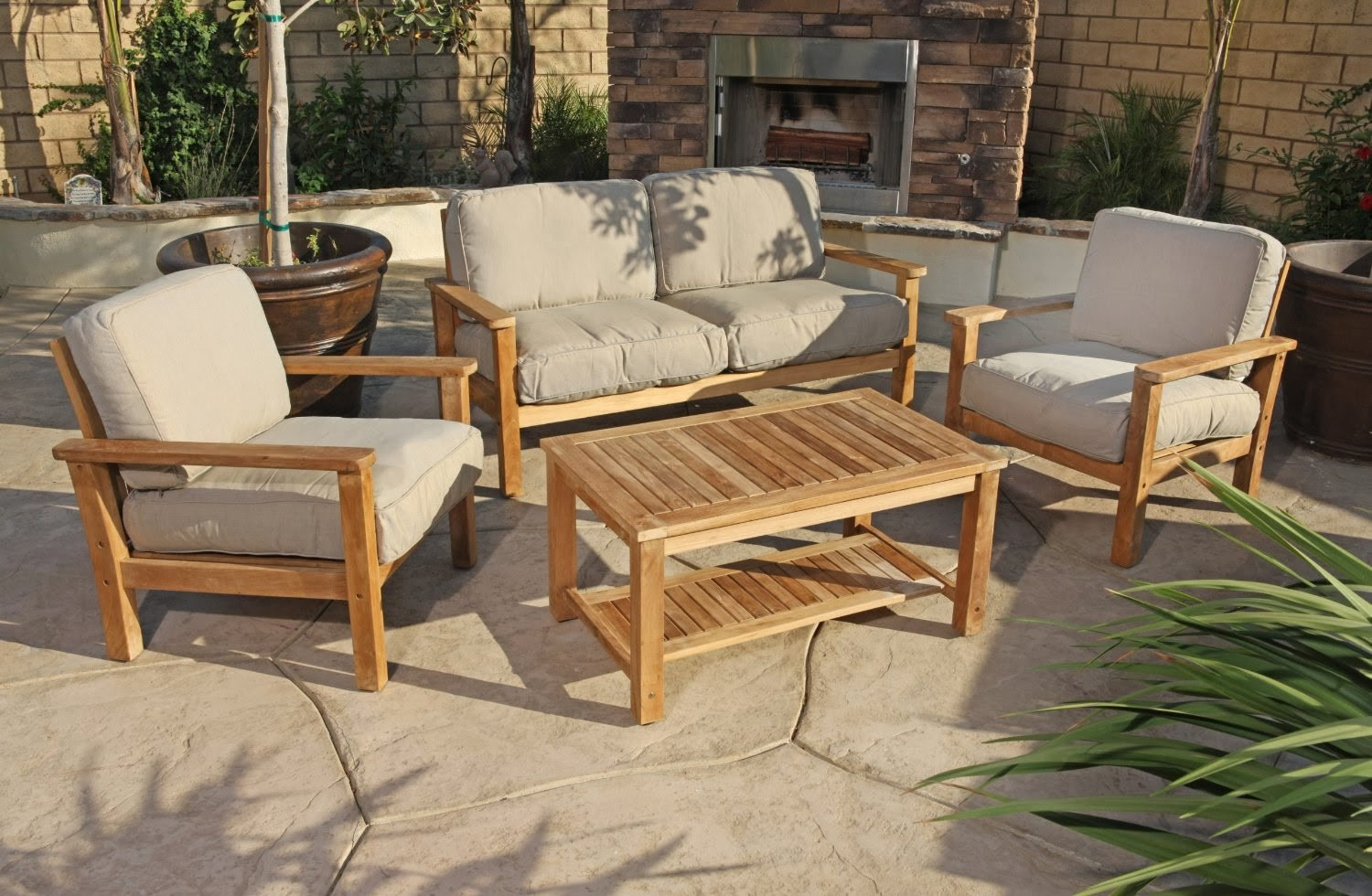 Best ideas about Wooden Patio Furniture . Save or Pin Outdoor Teak Sofa Uk Announcing Our Newest Outdoor Teak Now.