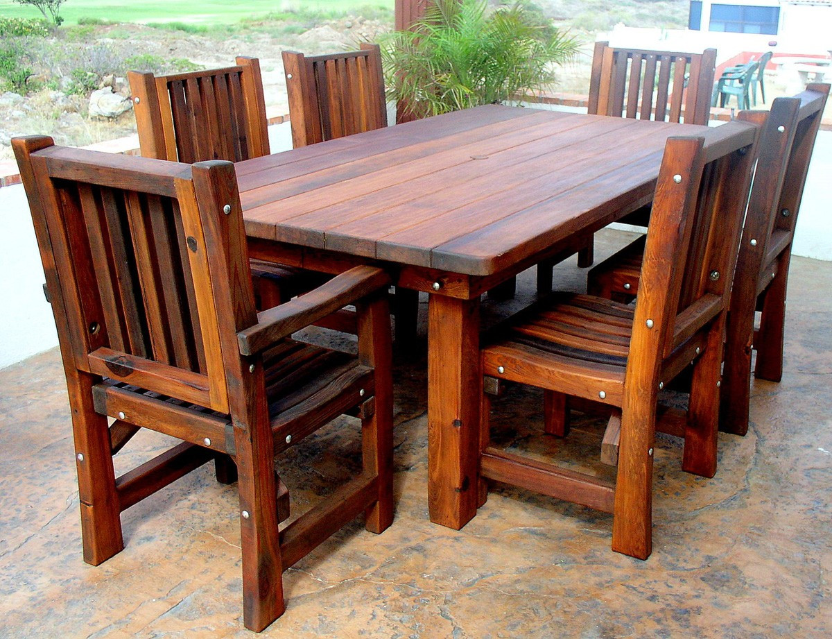 Best ideas about Wooden Patio Furniture . Save or Pin Wood Outdoor Tables A Brief History Wood Dowels Now.