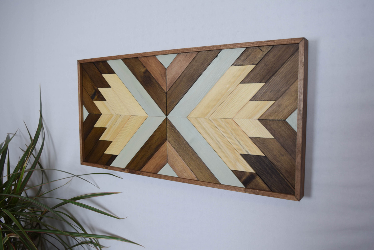 Best ideas about Wooden Wall Art . Save or Pin Wood Wall Art Contemporary Geometric Wood by Now.