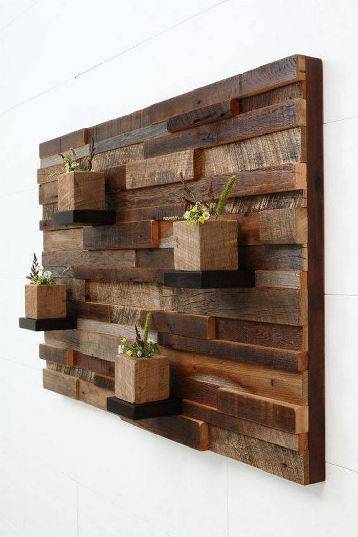 Best ideas about Wooden Wall Art . Save or Pin Recycled Wood Pallet Planter Ideas Now.
