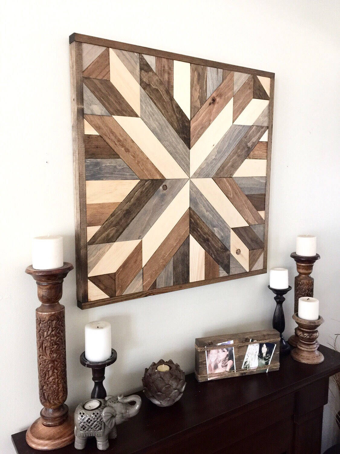 Best ideas about Wooden Wall Art . Save or Pin Reclaimed wood wall art wood art rustic wall decor Now.
