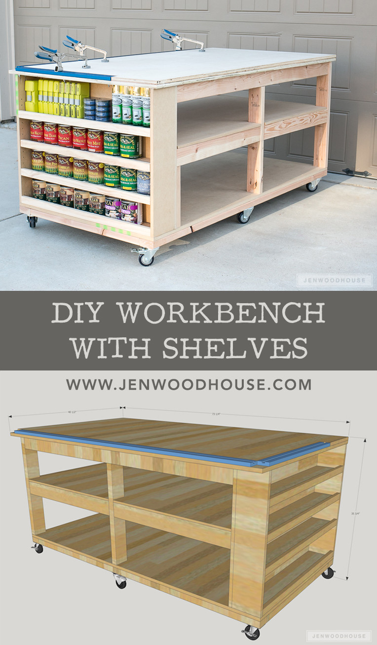 Best ideas about Workbench DIY Plans . Save or Pin How To Build A DIY Mobile Workbench With Shelves Now.