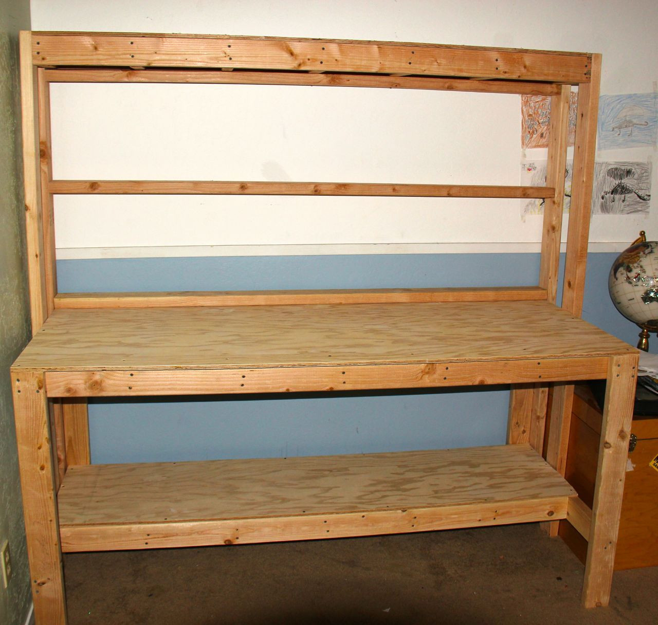 Best ideas about Workbench DIY Plans . Save or Pin Simple Wooden Workbench 11 Steps with Now.