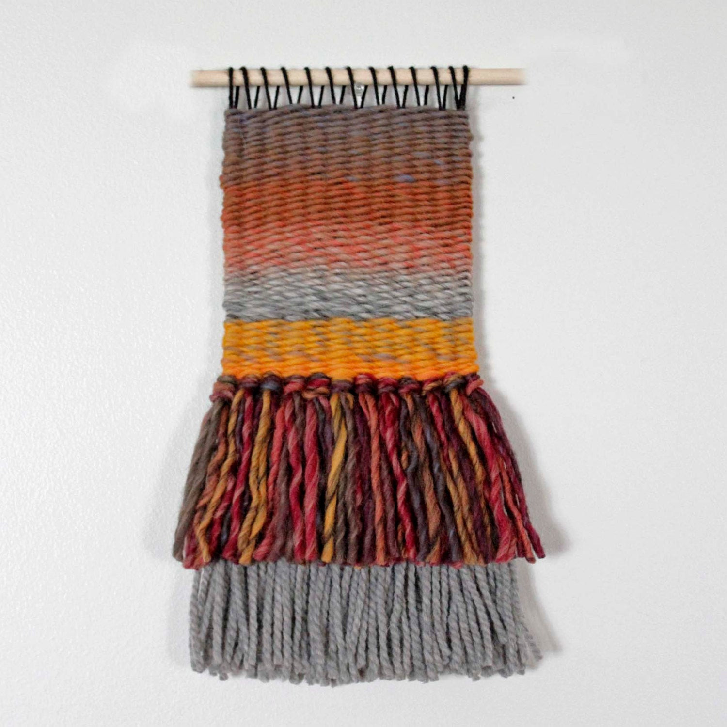 Best ideas about Woven Wall Art . Save or Pin Modern Wall HangingFall Decor Woven Wall Hanging Wool Now.