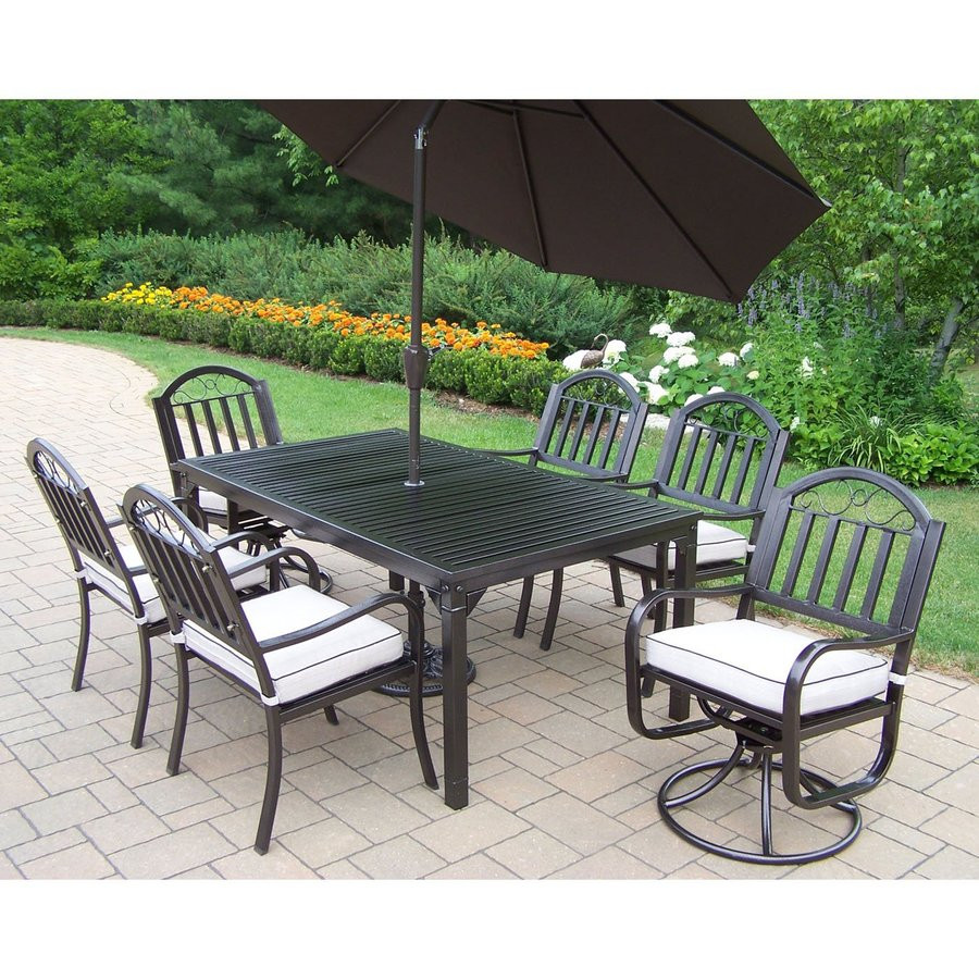 Best ideas about Wrought Iron Patio Furniture Lowes . Save or Pin Wrought Iron Patio Dining Sets Now.