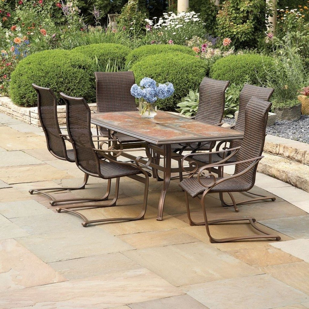 Best ideas about Wrought Iron Patio Furniture Lowes . Save or Pin Bistro Table And Chairs Lowes outdoor furniture set lowes Now.