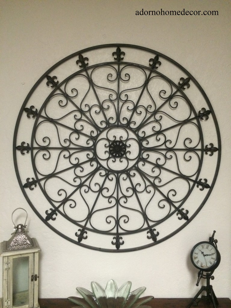Best ideas about Wrought Iron Wall Art . Save or Pin Round Wrought Iron Wall DECOR Rustic Scroll Fleur De Now.