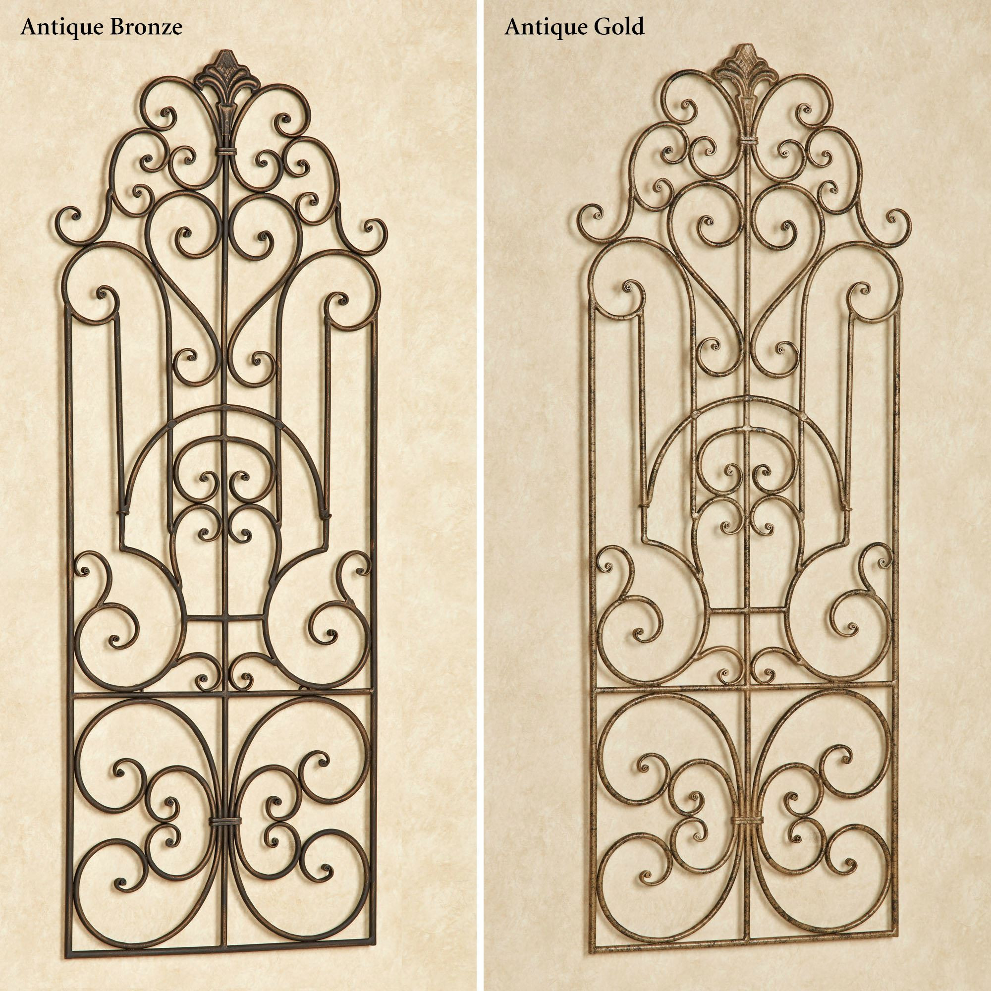 Best ideas about Wrought Iron Wall Art . Save or Pin Antonello Indoor Outdoor Wrought Iron Wall Grille Now.