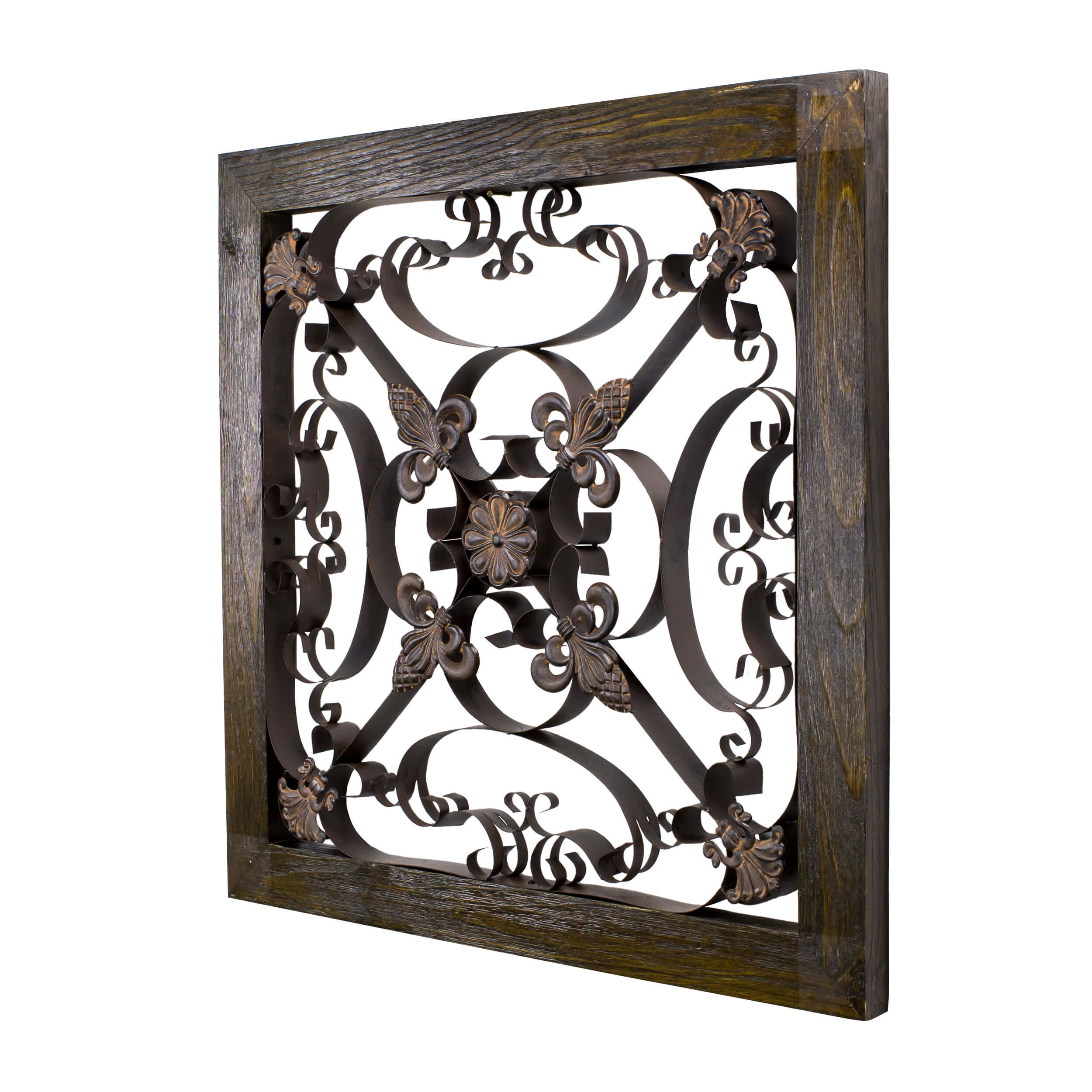 Best ideas about Wrought Iron Wall Art . Save or Pin BayAccents Square Framed Wrought Iron Wall Art Now.