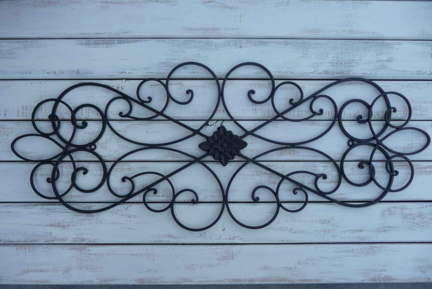 Best ideas about Wrought Iron Wall Art . Save or Pin Wrought Iron Wall Decor Bedroom Bed Headboard Black Wall Now.