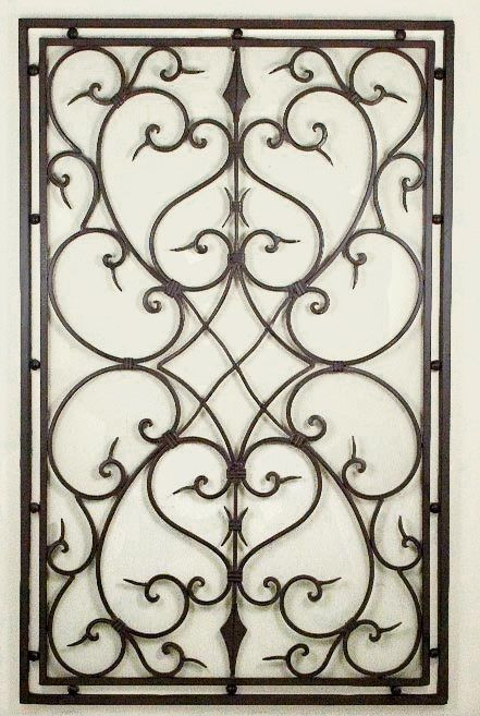 Best ideas about Wrought Iron Wall Art . Save or Pin 119 best images about Wrought Iron Decor on Pinterest Now.