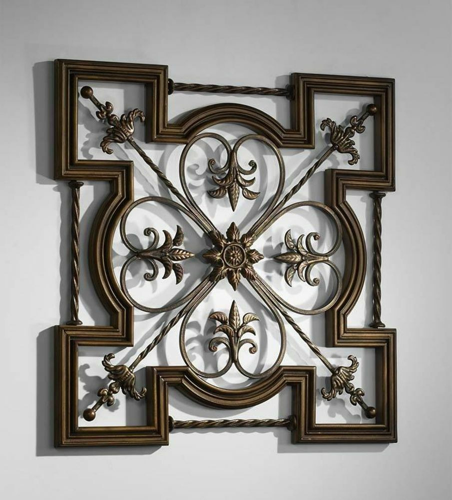 Best ideas about Wrought Iron Wall Art . Save or Pin Ornate Tuscan Old World Wrought Iron & Wood Fleur De Lis Now.