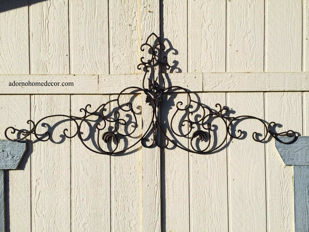 Best ideas about Wrought Iron Wall Art . Save or Pin Tuscan Wrought Iron Metal Wall Decor Rustic Antique Now.