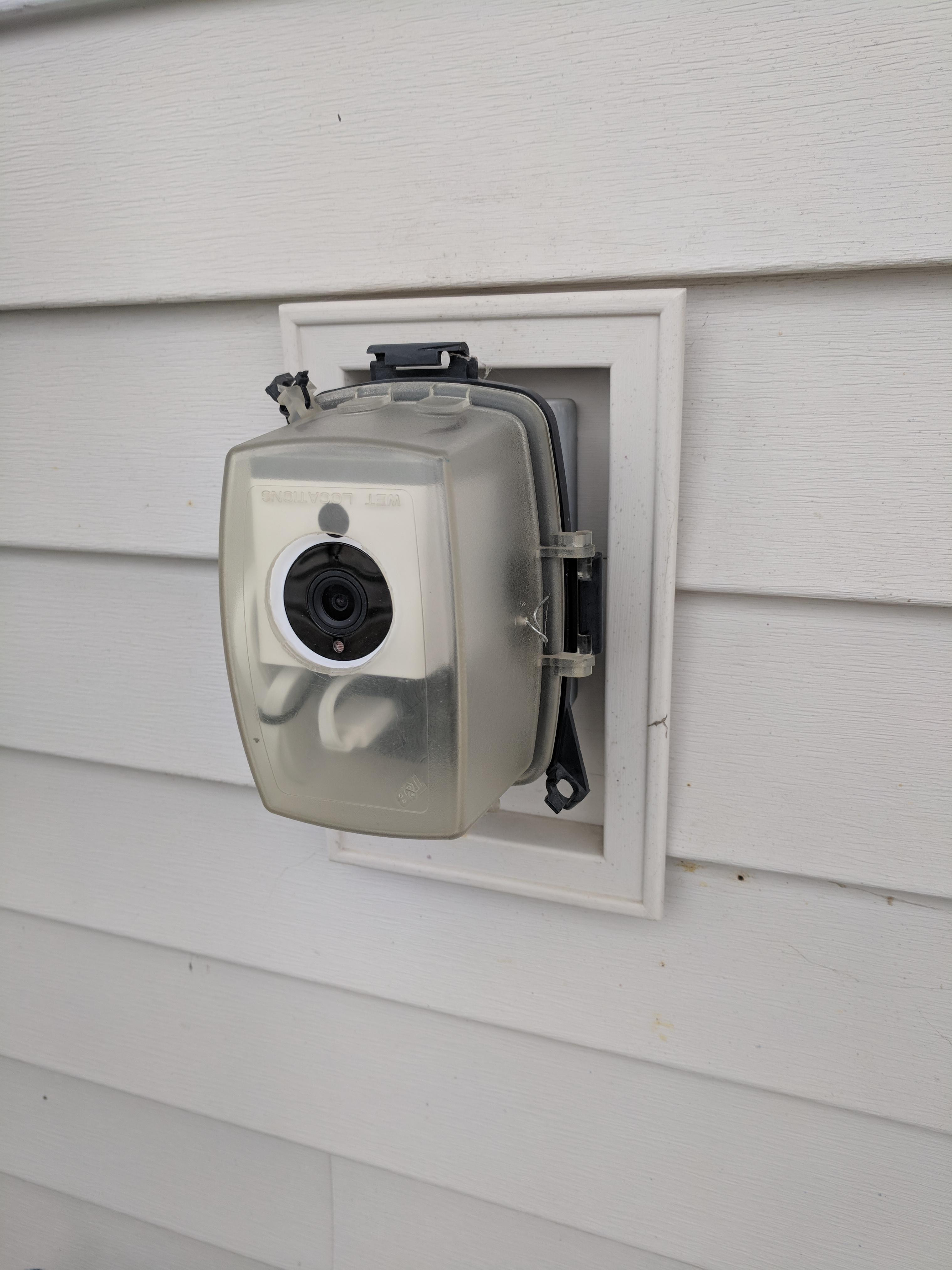 """Best ideas about Wyze Cam Outdoor . Save or Pin """"Free"""" outdoor cover Re purposed existing weatherproof Now."""