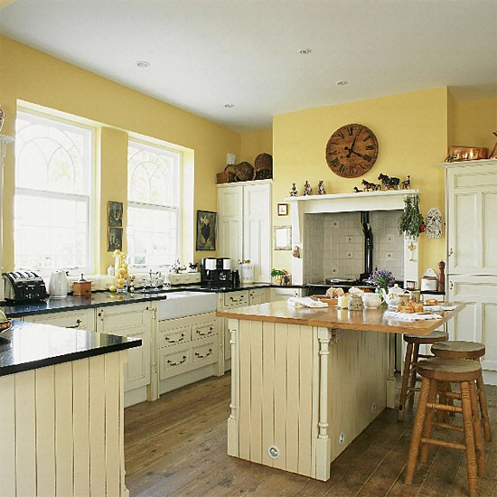 Best ideas about Yellow Kitchen Decorating Ideas . Save or Pin Yellow country kitchen Kitchen design Now.