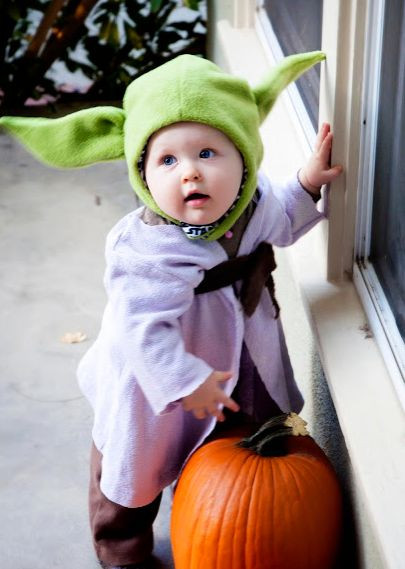 Best ideas about Yoda Costume DIY . Save or Pin Homemade Baby Yoda Costume and Starwars family halloween Now.