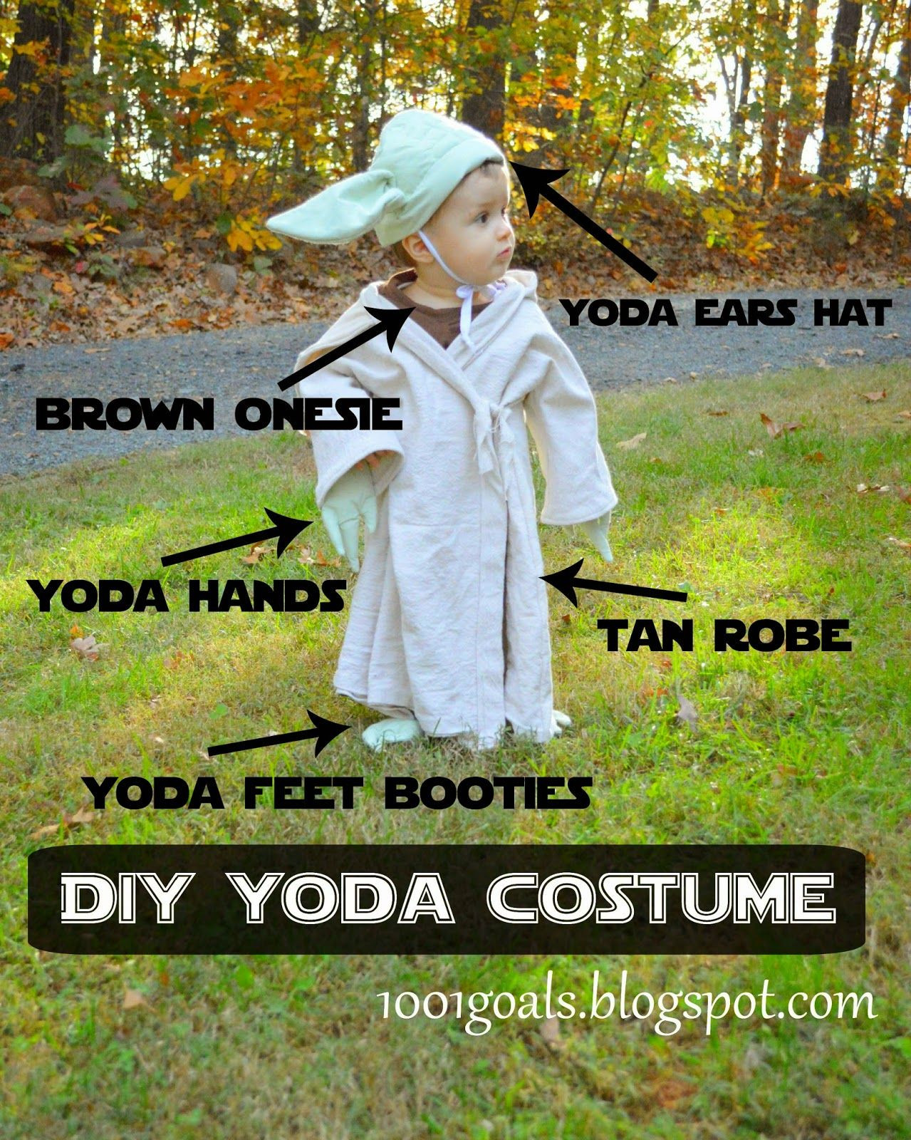 Best ideas about Yoda Costume DIY . Save or Pin 1001 Goals DIY Luke Skywalker and Yoda Halloween Costumes Now.
