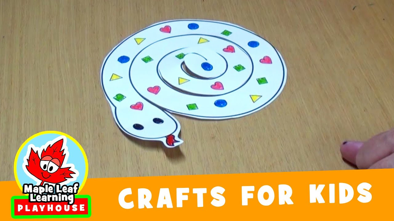 Best ideas about Youtube Crafts For Kids . Save or Pin Snake Craft for Kids Now.