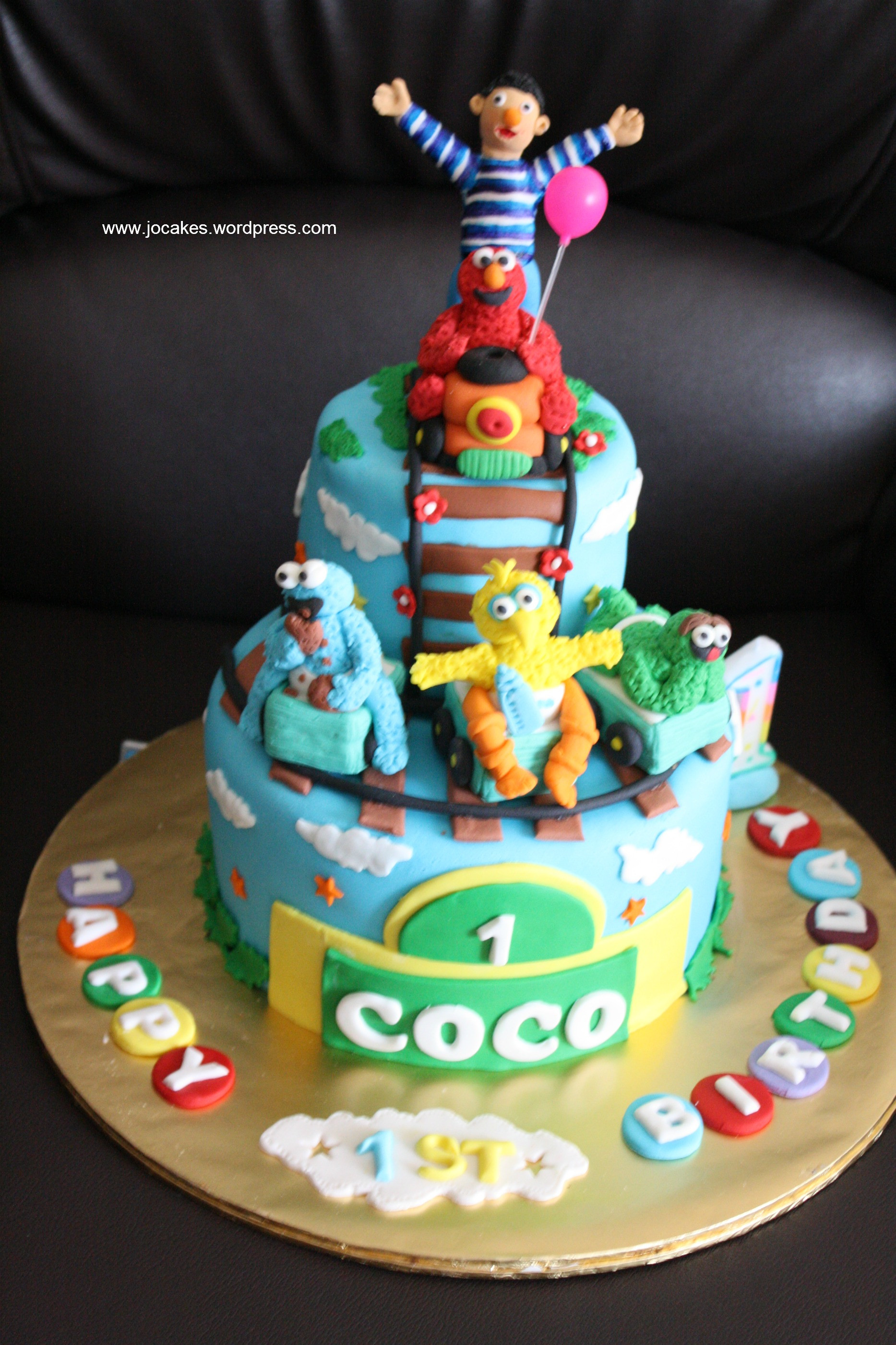 Best ideas about 1 Year Old Birthday Cake . Save or Pin Sesame Street birthday cake for 1 year old girl Now.
