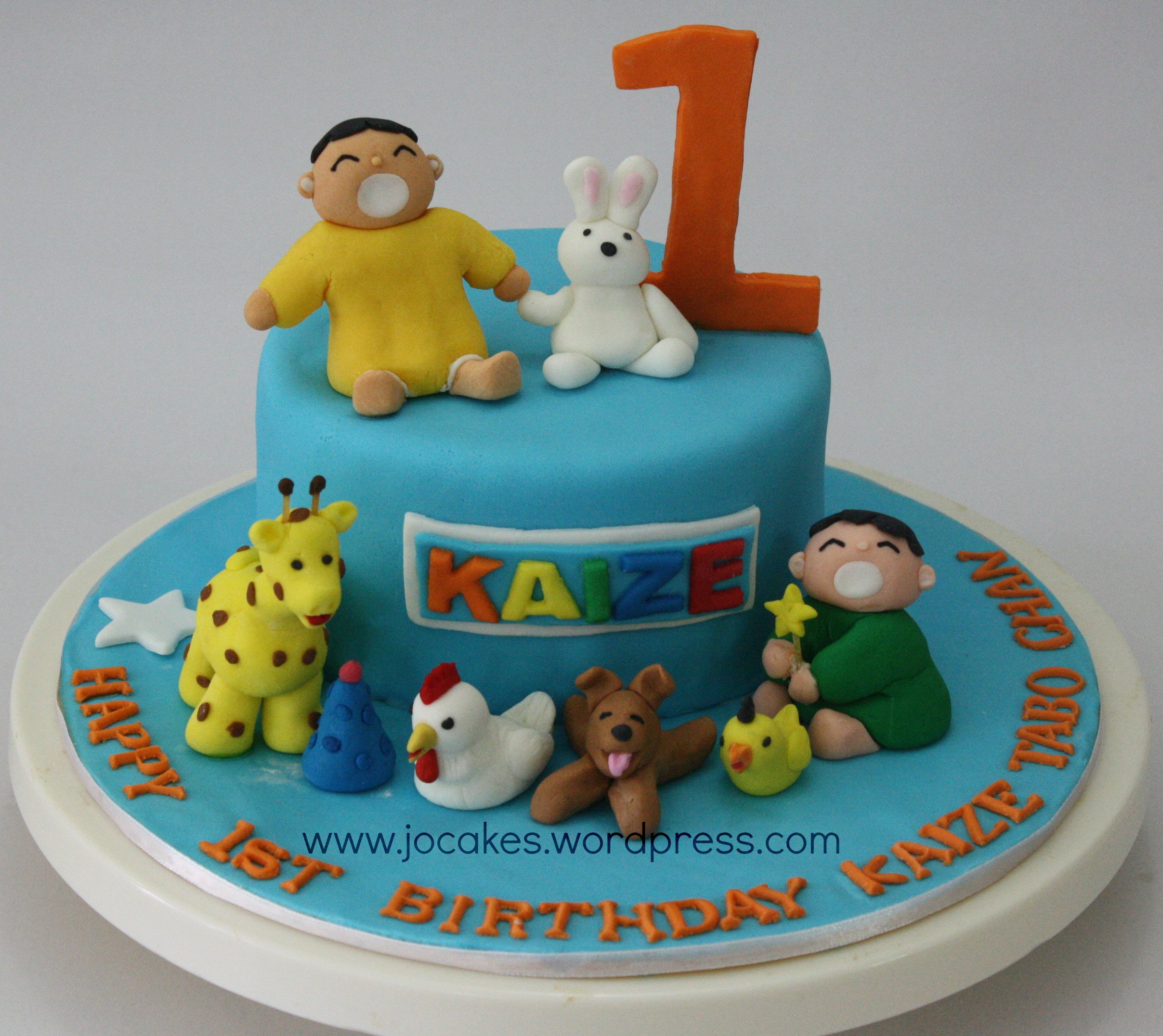 Best ideas about 1 Year Old Birthday Cake . Save or Pin Minna Tabo cake for 1 year old boy Now.