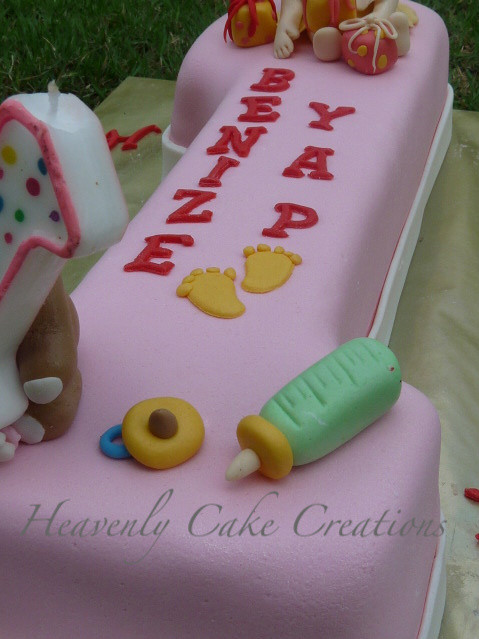Best ideas about 1 Year Old Birthday Cake . Save or Pin Heavenly Cake Creations Birthday Cake for 1 year old girl Now.