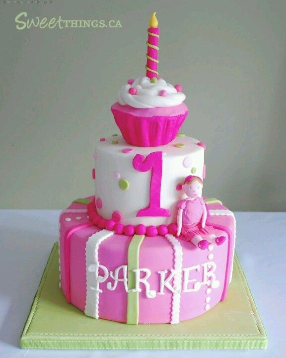 Best ideas about 1 Year Old Birthday Cake . Save or Pin Birthday cake for a 1 year old girl Cakes Now.