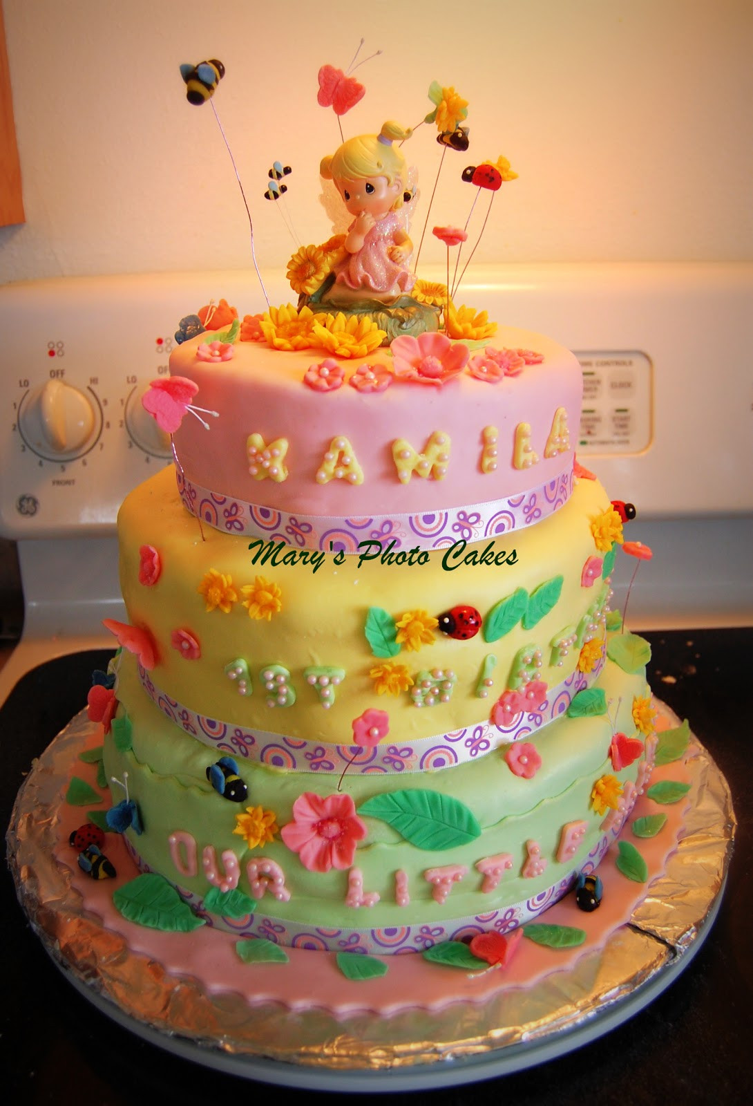 Best ideas about 1 Year Old Birthday Cake . Save or Pin Mary s Cakes Precious Moments Cake for a 1 Year Old Now.