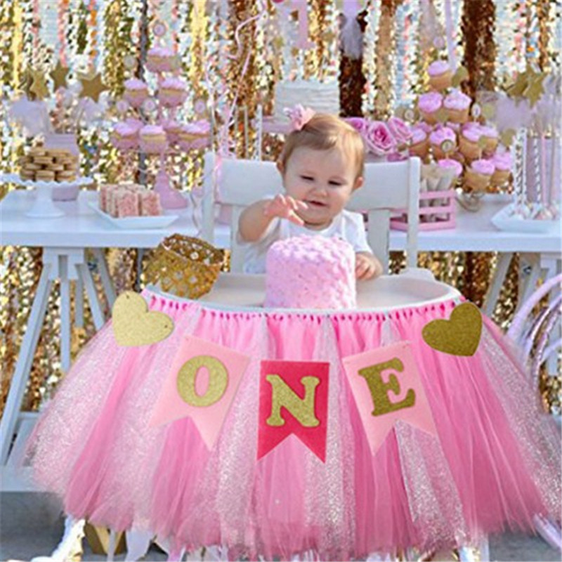 Best ideas about 1 Year Old Birthday Party Places . Save or Pin Baby First Birthday Blue Pink Chair Banner ONE Year 1st Now.