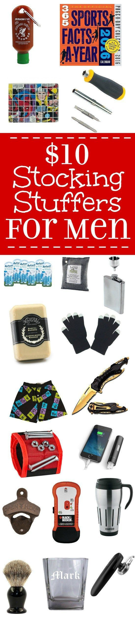 Best ideas about $10 Gift Ideas For Guys . Save or Pin $10 Stocking Stuffer Ideas for Men Now.