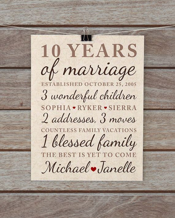 Best ideas about 10 Year Anniversary Gift Ideas For Her . Save or Pin Best 25 10 year anniversary t ideas on Pinterest Now.