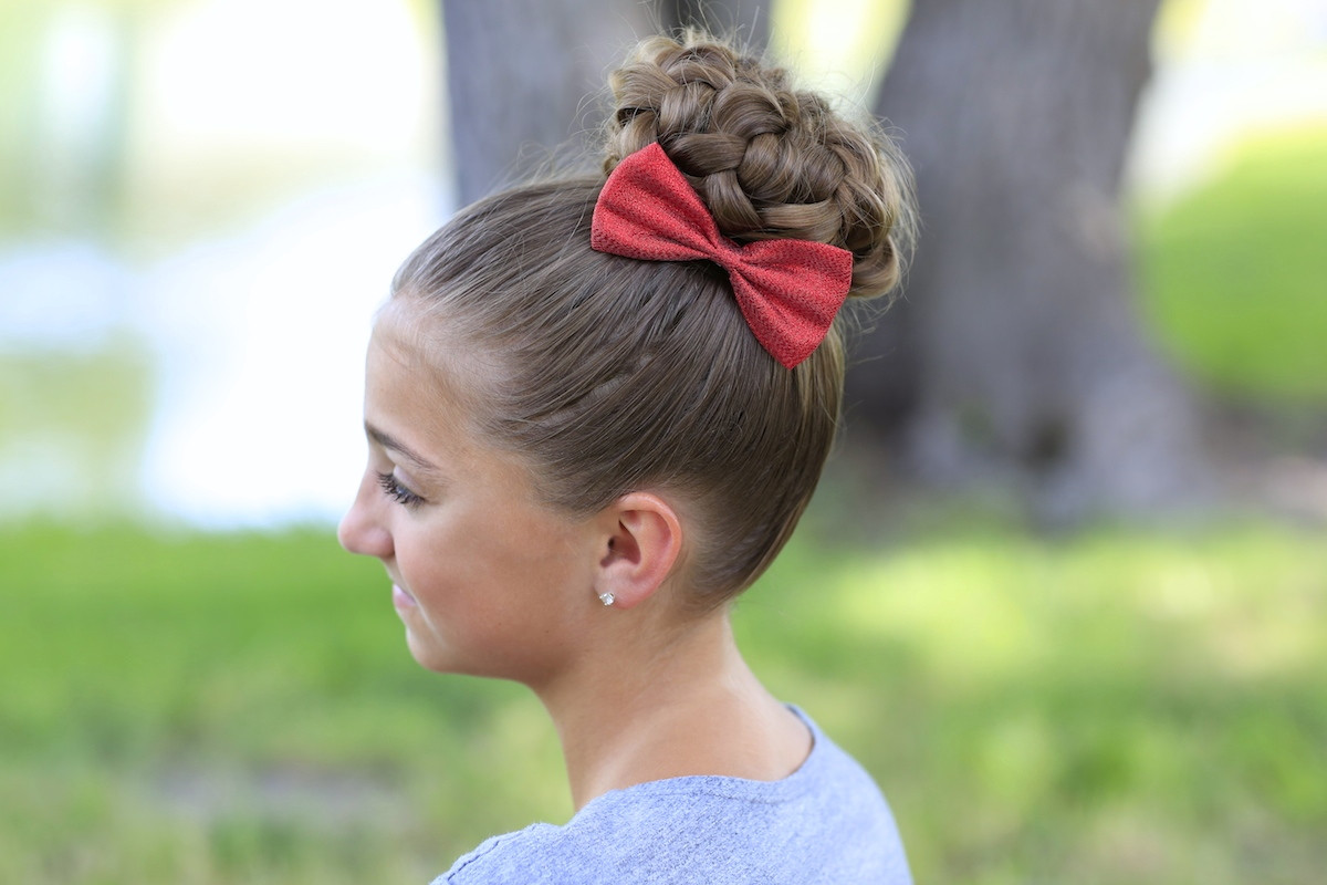 Best ideas about 10 Year Old Hairstyles For School . Save or Pin Pancaked Bun of Braids Updo Hairstyles Now.
