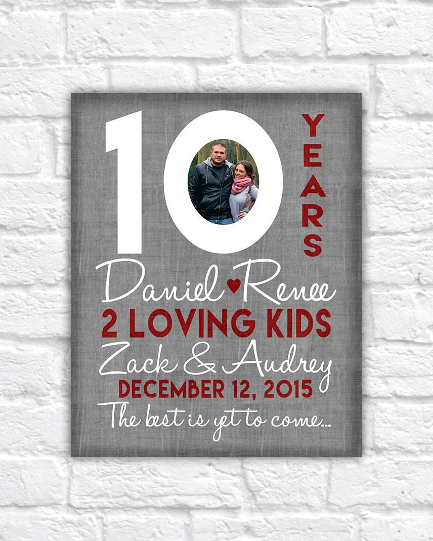 Best ideas about 10 Year Wedding Anniversary Gift Ideas For Him . Save or Pin 10th Wedding Anniversary Gift 10 Year Anniversaries Now.