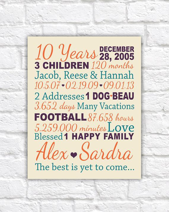 Best ideas about 10 Year Wedding Anniversary Gift Ideas For Him . Save or Pin Anniversary Gift for 10 Years 20 years Gifts for Him Paper Now.