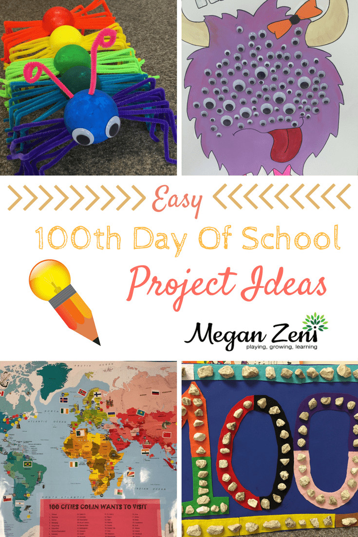 Best ideas about 100 Day Of School Project Idea . Save or Pin Easy 100th day of school project ideas Now.