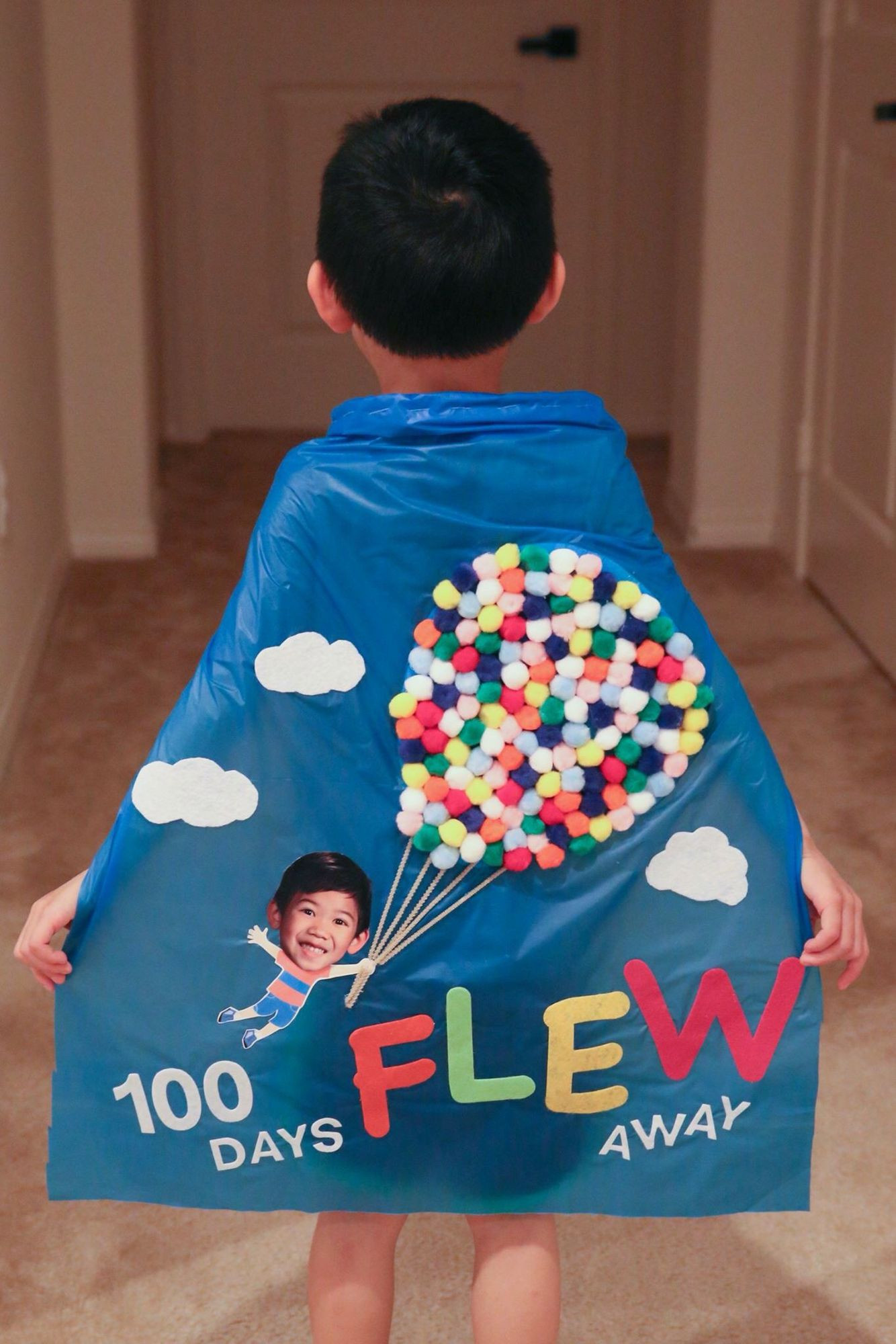 Best ideas about 100 Day Of School Project Idea . Save or Pin From Up Up & Away 100 Days of School Cape made from Pom Now.
