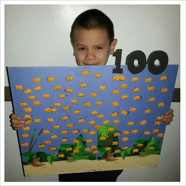 Best ideas about 100 Day Of School Project Idea . Save or Pin My son s 100 day project Now.