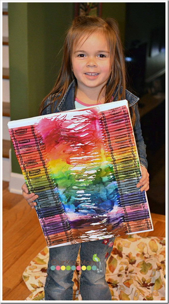 Best ideas about 100 Day Of School Project Idea . Save or Pin Melted Crayon Art Now.