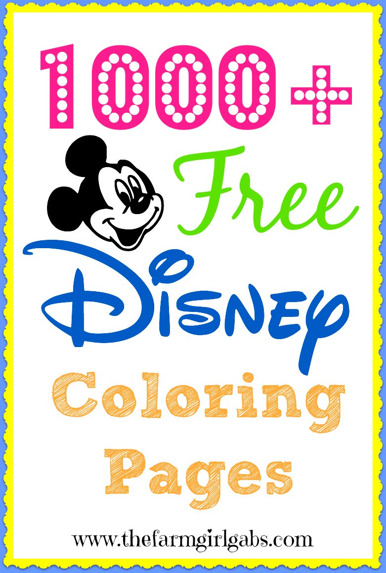 Best ideas about 1000 Free Coloring Pages . Save or Pin 1000 Free Disney Coloring Pages For Kids Now.