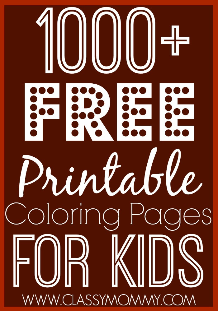 Best ideas about 1000 Free Coloring Pages . Save or Pin 1000 Free Printable Coloring Pages for Kids Now.