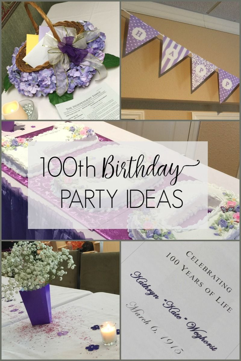 Best ideas about 100th Birthday Ideas . Save or Pin 100th Birthday Party Ideas Celebrating 100 Years of Life Now.