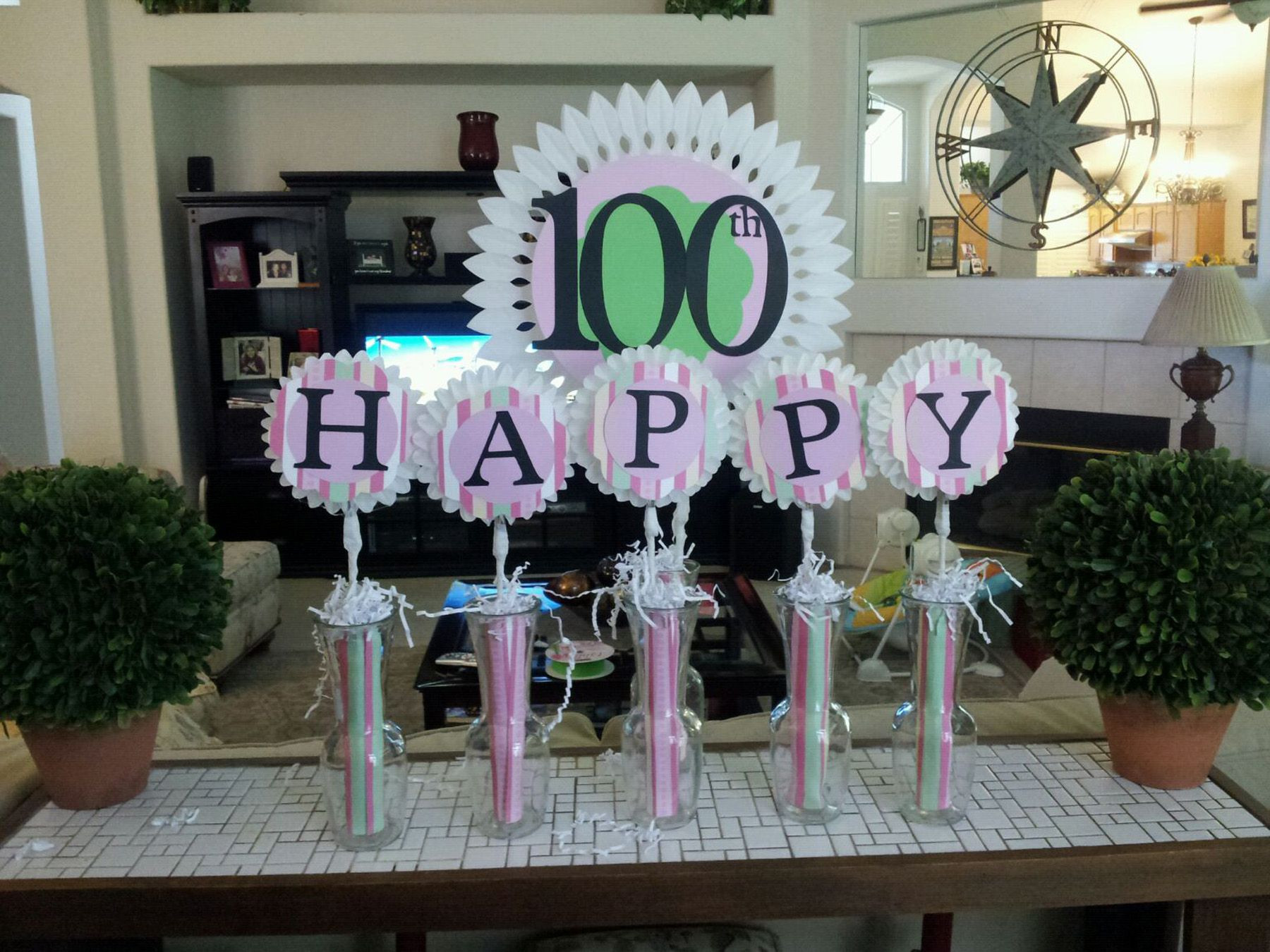 Best ideas about 100th Birthday Ideas . Save or Pin Cake Table Decoration for Grandma Esther s 100th Birthday Now.