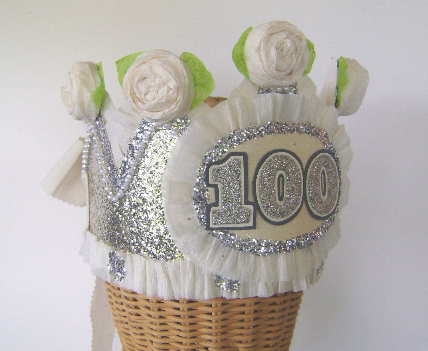 Best ideas about 100th Birthday Ideas . Save or Pin 100th Birthday Party Crown 100th birthday party hat adult Now.
