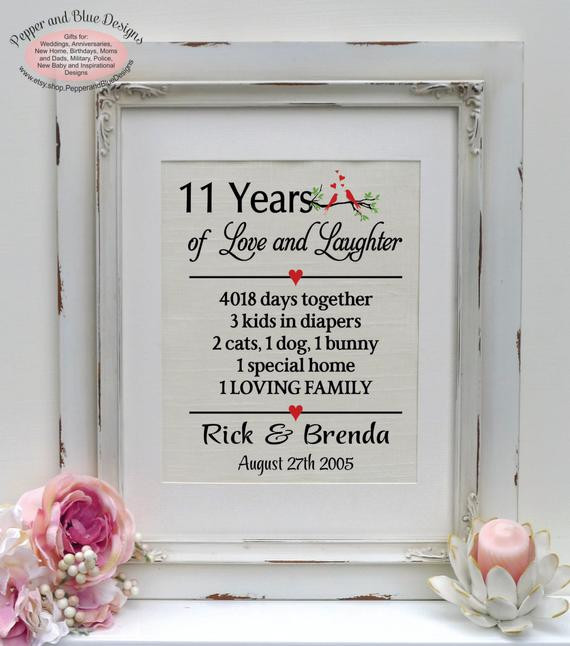 Best ideas about 11 Year Anniversary Gift Ideas . Save or Pin 11th anniversary ts 11 years married 11 by Now.