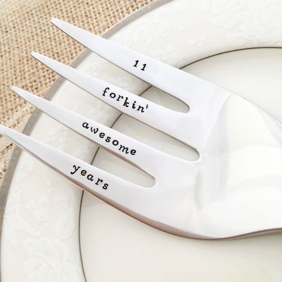 Best ideas about 11 Year Anniversary Gift Ideas . Save or Pin 11th anniversary t 11 forkin awesome years Traditional Now.