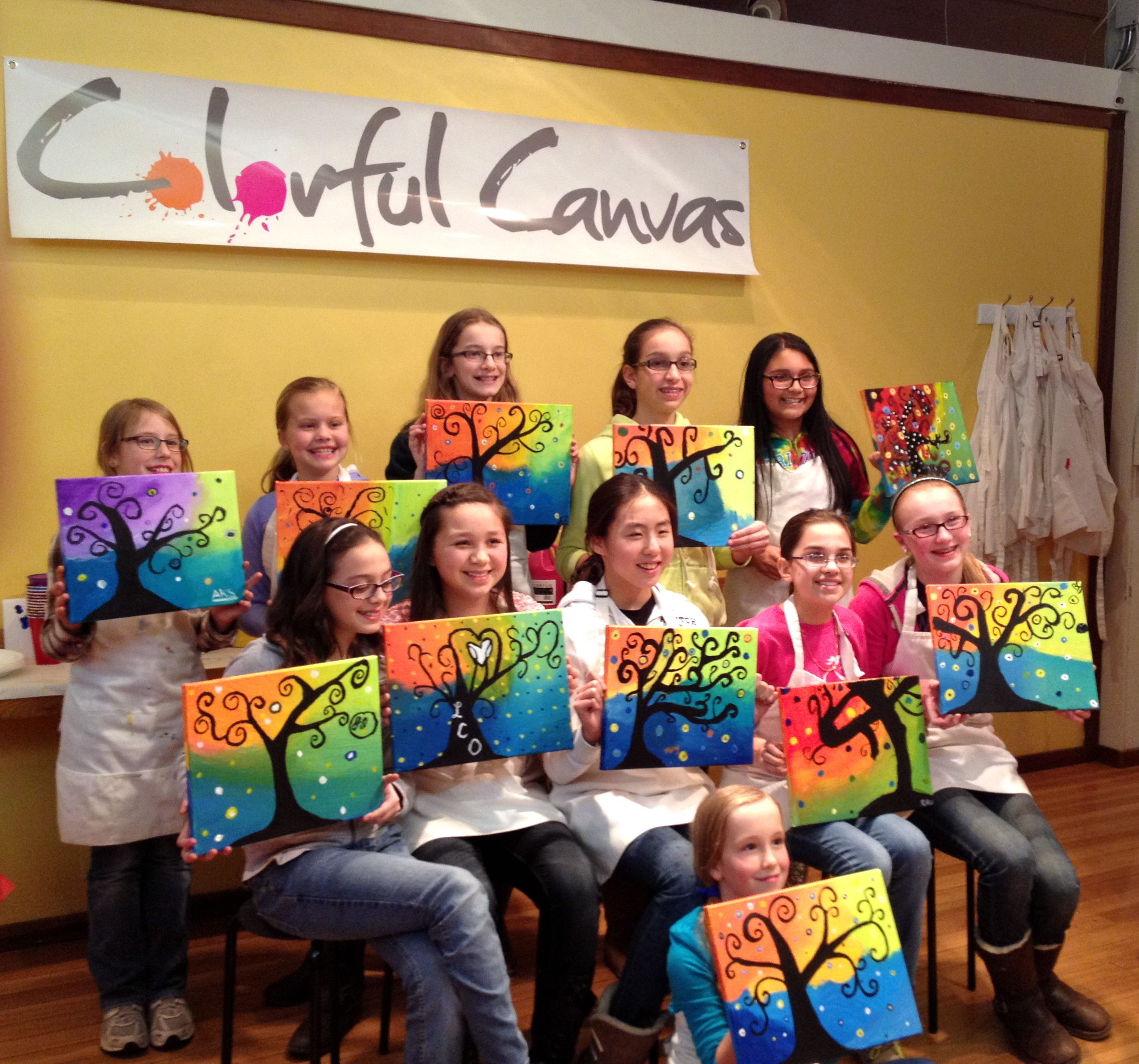 Best ideas about 12 Year Old Birthday Party . Save or Pin 12 year old girls enjoyed this swirly tree painting for a Now.