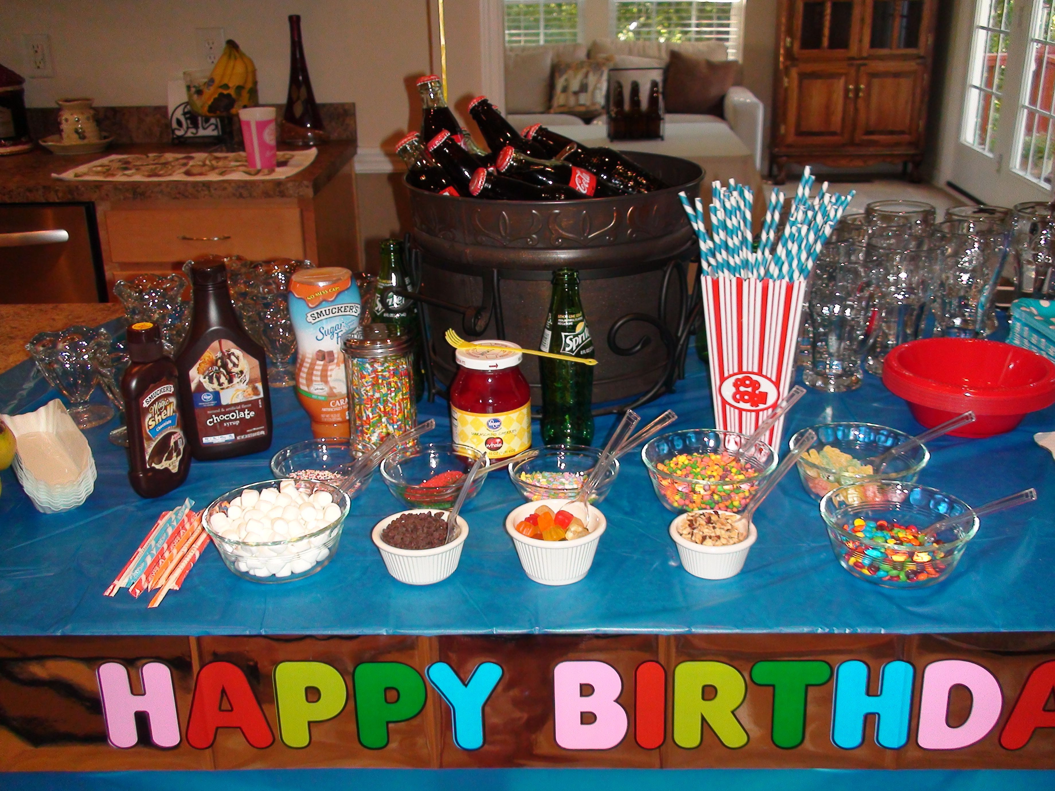 Best ideas about 12 Year Old Birthday Party . Save or Pin 12 year old party root beer floats banana splits ice Now.