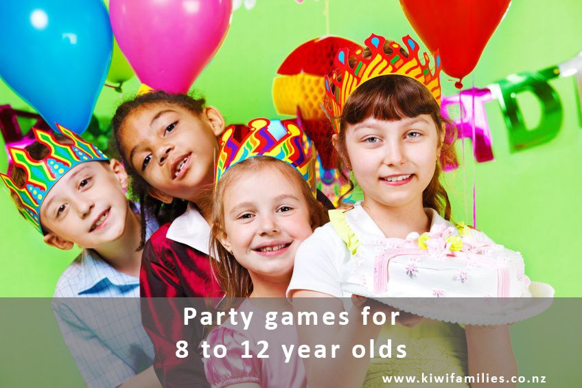 Best ideas about 12 Year Old Birthday Party . Save or Pin Party games for 8 to 12 year olds Kiwi Families Now.